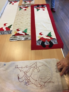 Kathy`s Father Christmas table runner